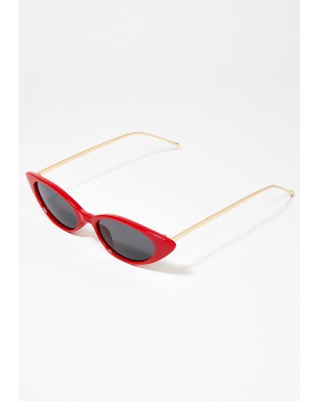 Red Isla Cat Eye Sunglasses