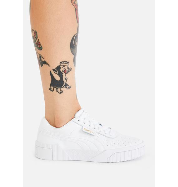 PUMA White Cali Sneakers
