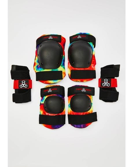 Tie Dye Saver Series 3 Shin Guard Pack