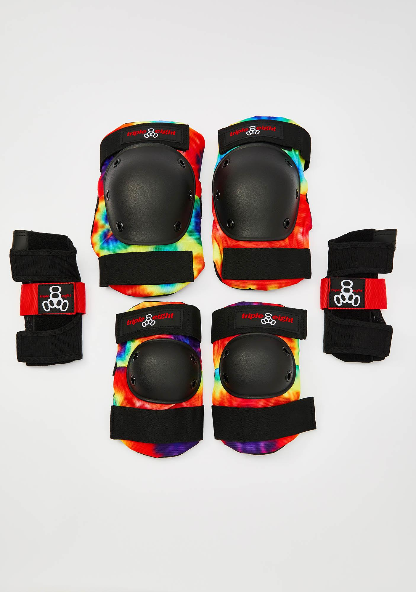 Triple Eight Tie Dye Saver Series 3 Shin Guard Pack