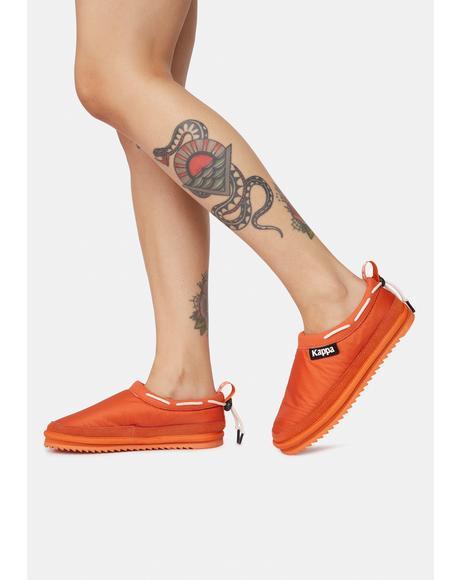 Orange 222 Banda Mules