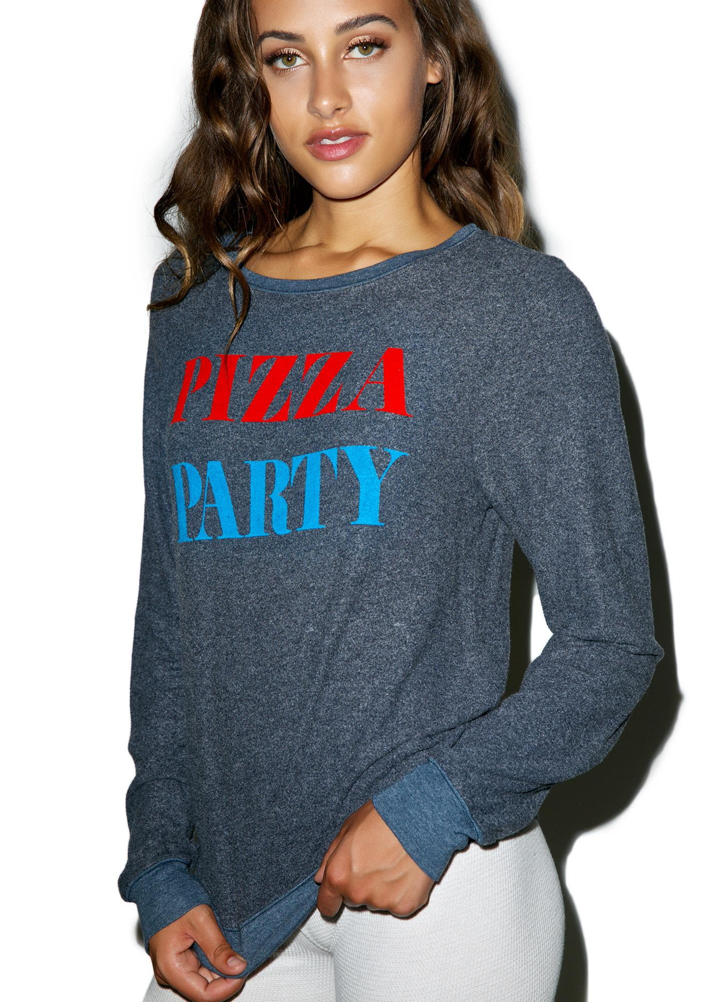Wildfox Couture The Pizza Party Baggy Beach Jumper