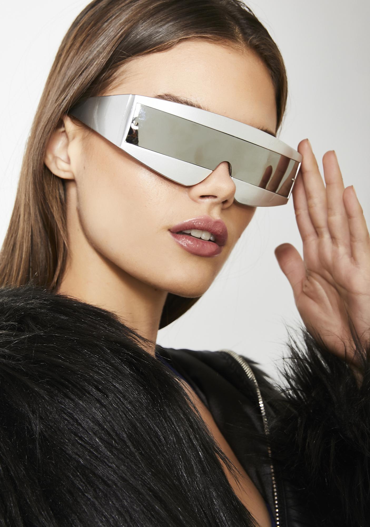 2d3c300d77a White Robot Shield Sunglasses
