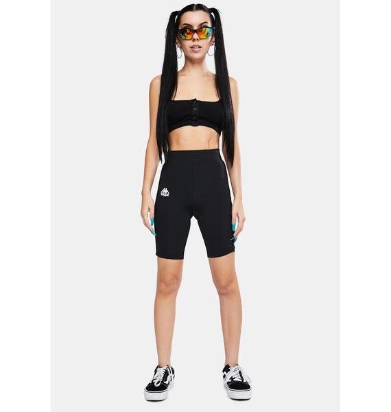 Kappa 222 Banda Cicles 2 Black Biker Shorts
