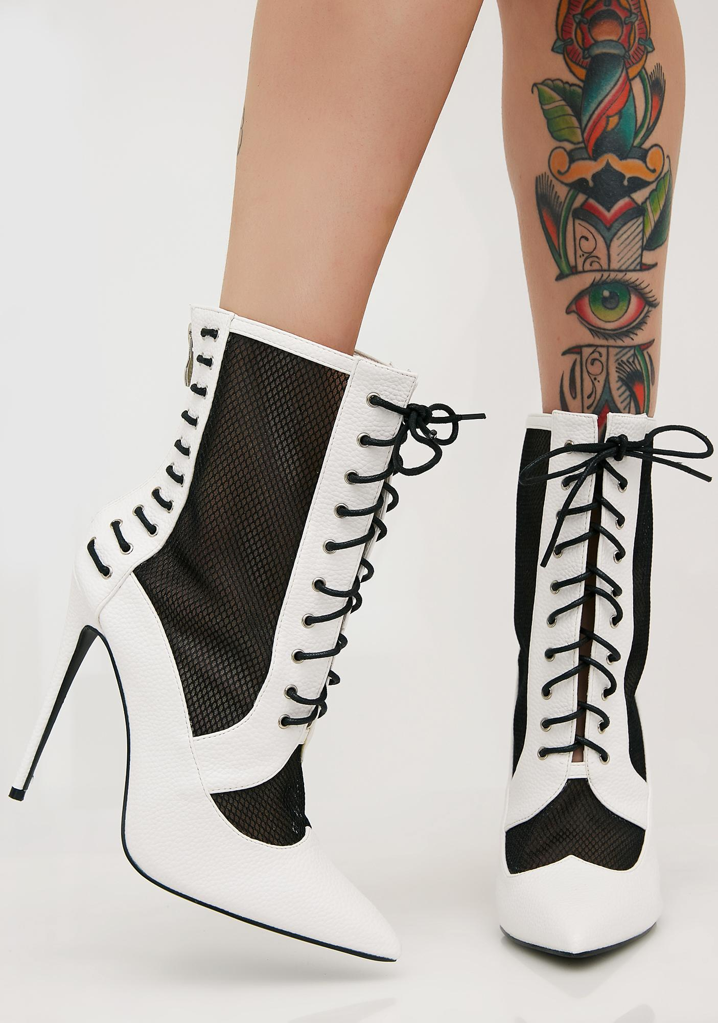Public Desire Eshal Lace Up Ankle Boots