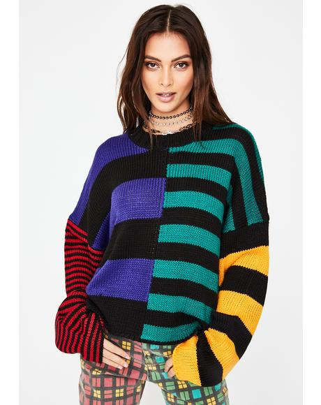 Riot Striped Knit Sweater