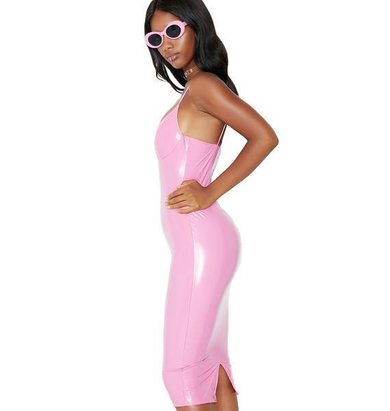 Life Is Plastic Midi Dress