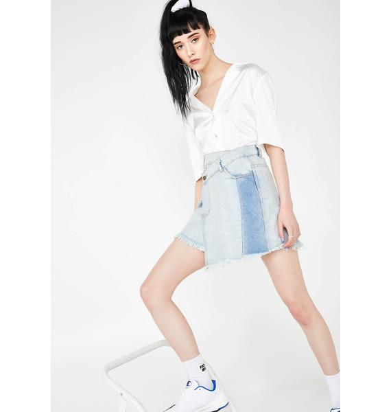 Coming Undone Denim Skirt