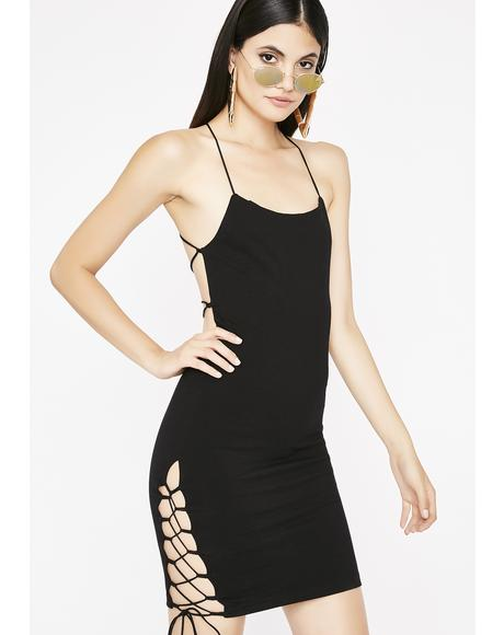 Get Em' Hooked Strappy Dress