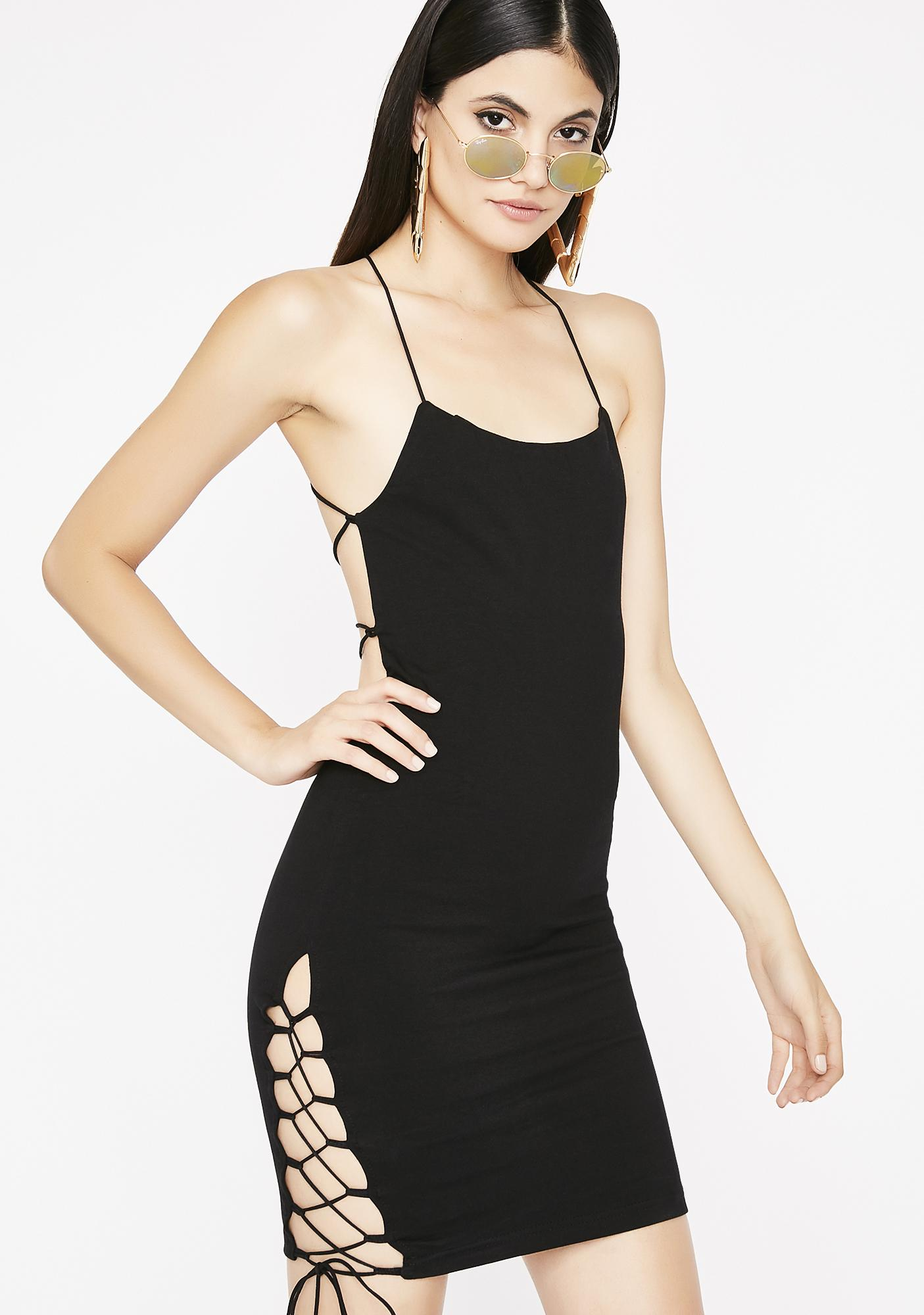 Get Em Hooked Strappy Dress
