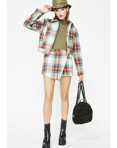 Rumor Has It Plaid Jacket