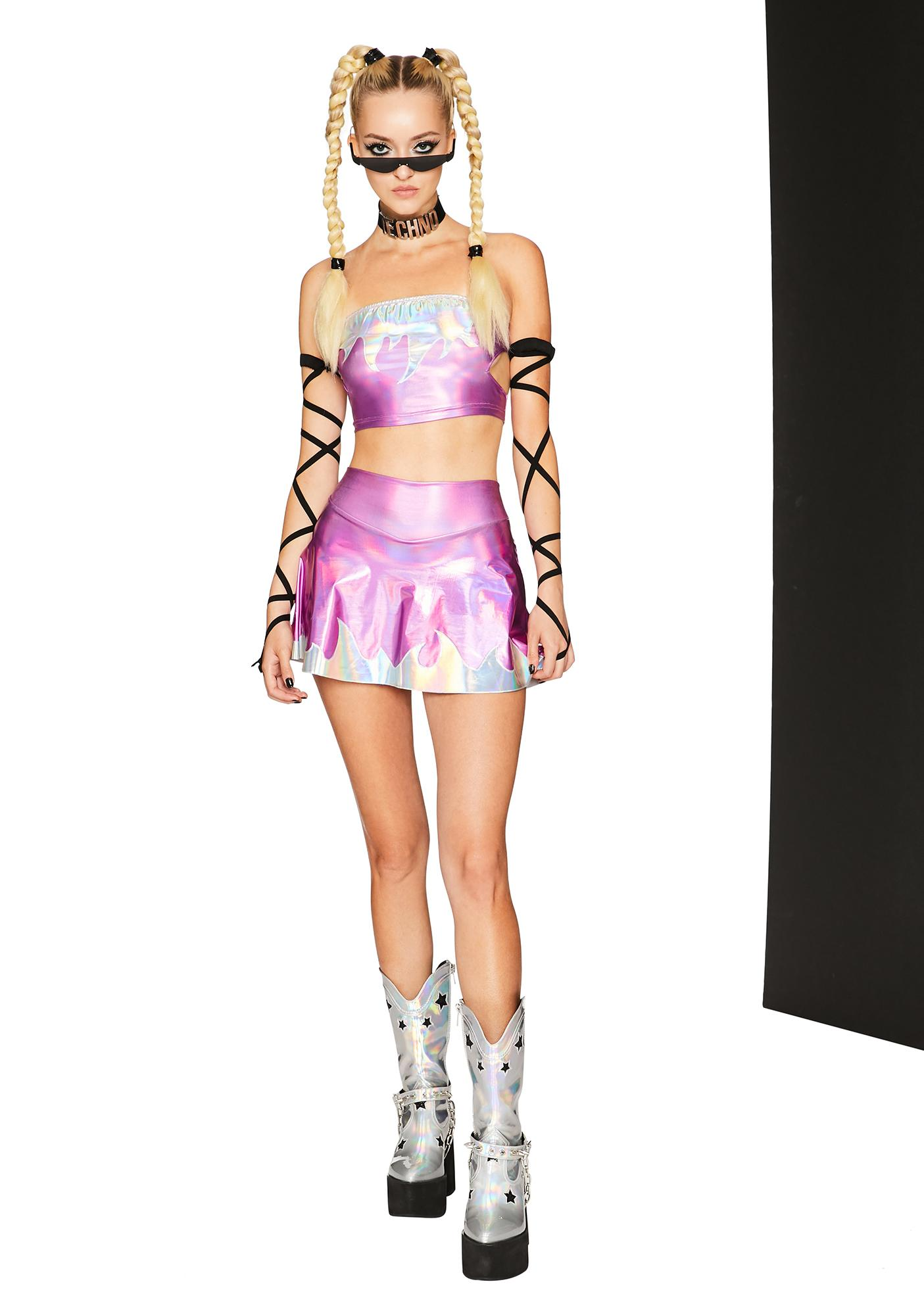 Club Exx Magic Spark Up Holographic Top