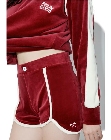 Phys Ed Velour Shorts