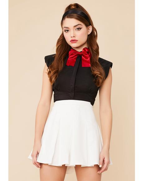 Pure Dean's List Pleated Mini Skirt