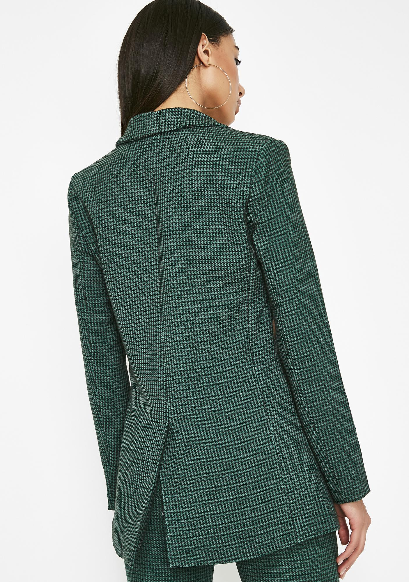 7e7cb330151 Wool Houndstooth Blazer | Dolls Kill