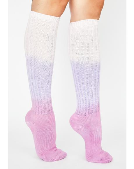 Grape Sugar Dose Knee High Socks