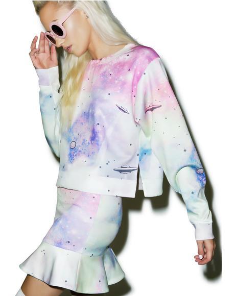 Space Cadet Pop Art Sweater