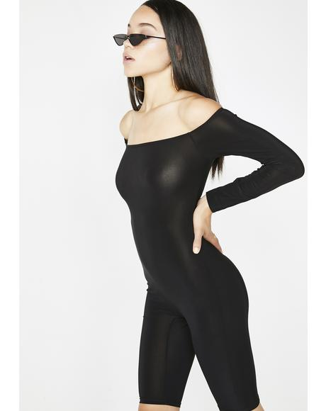 Hot Streak Off The Shoulder Catsuit