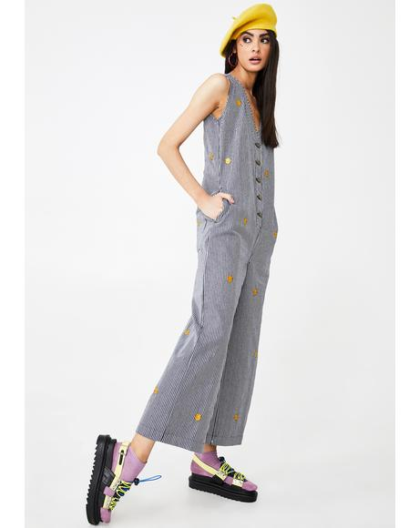 Mr Happy Stripe Jumpsuit