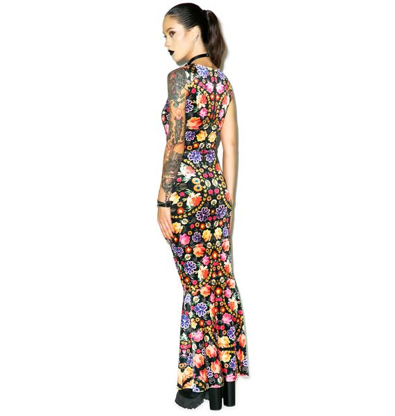 Mink Pink Garden of Earthly Delights Maxi Dress