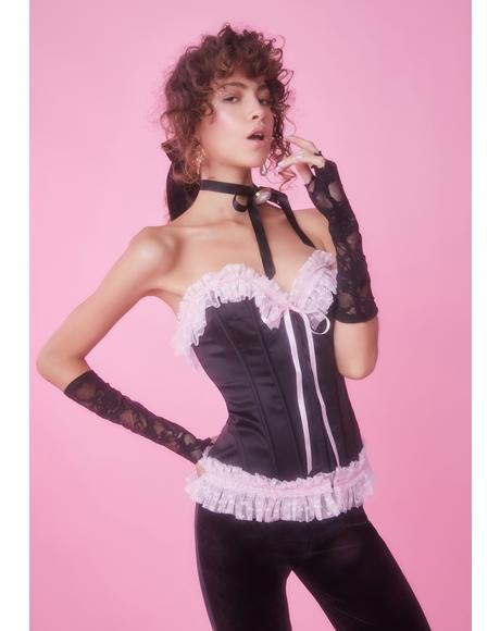 Stroke Of Midnight Ruffle Corset