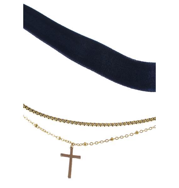 Vanessa Mooney The Chain & Cross Choker