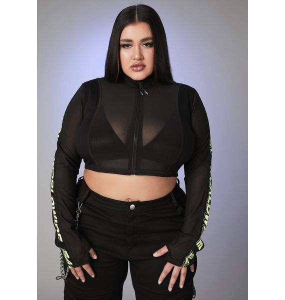 Poster Grl I Run The Scene Mesh Top