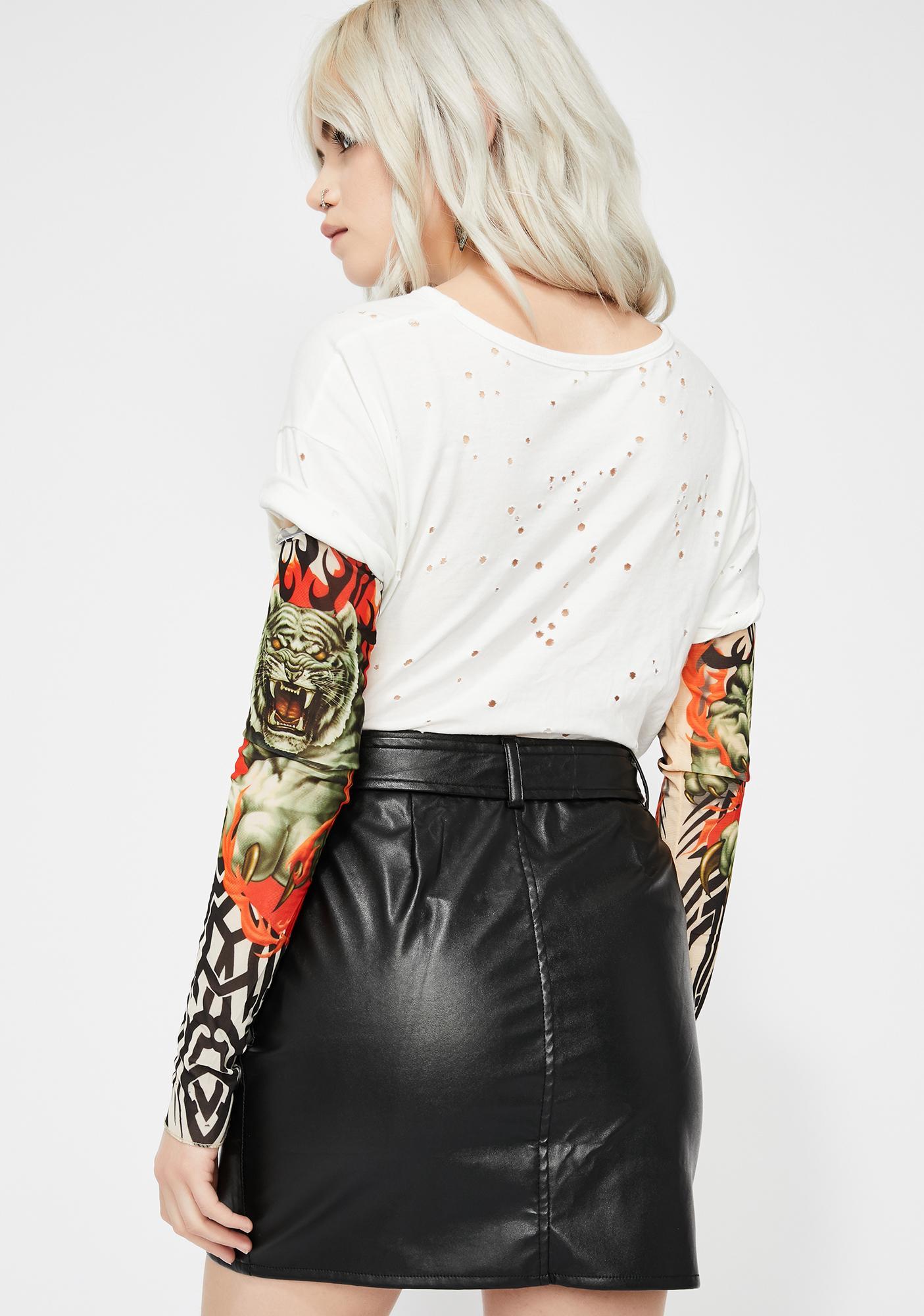 cafad8c85 Vegan Leather Moto Skirt   Dolls Kill