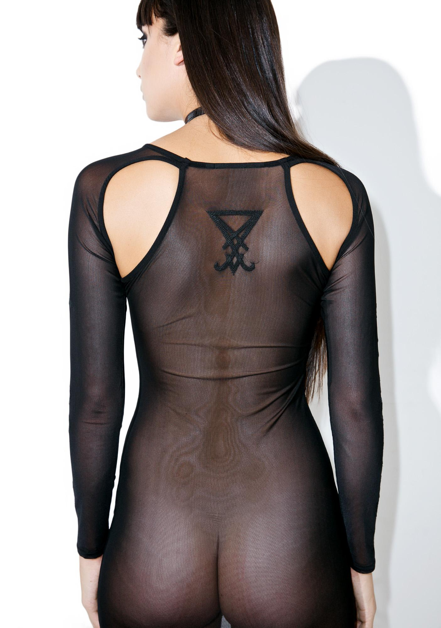 Killstar Lilith Mesh Maxi Dress