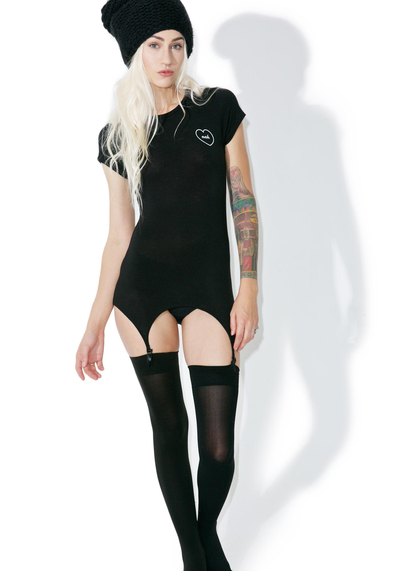 Wildfox Couture Nah Suspender Tee