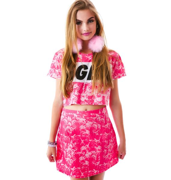 Lazy Oaf Rose For the Lady Skirt