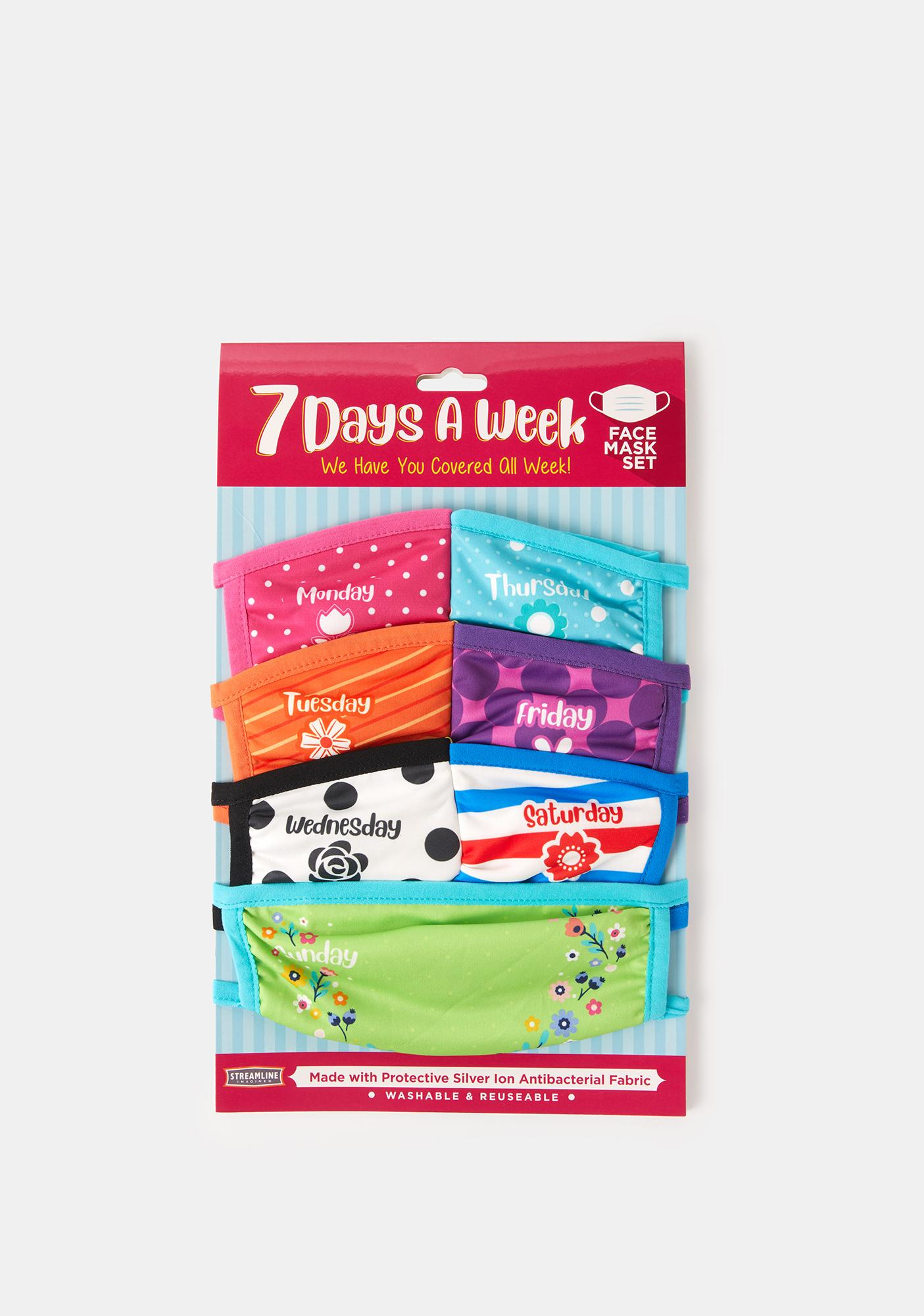 Days Of The Week Protective Face Mask Set
