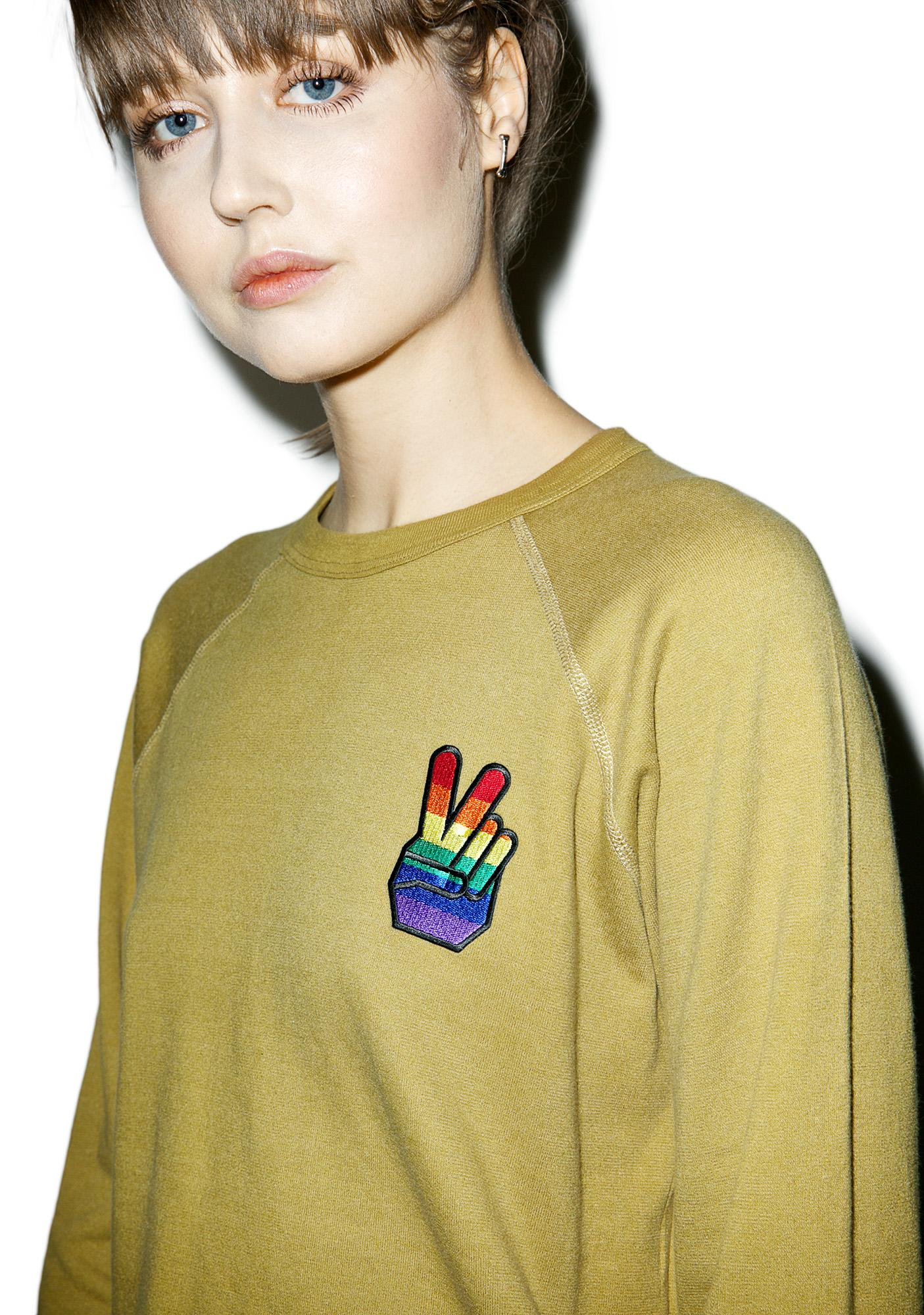 Rag Doll Rainbow Peace Top
