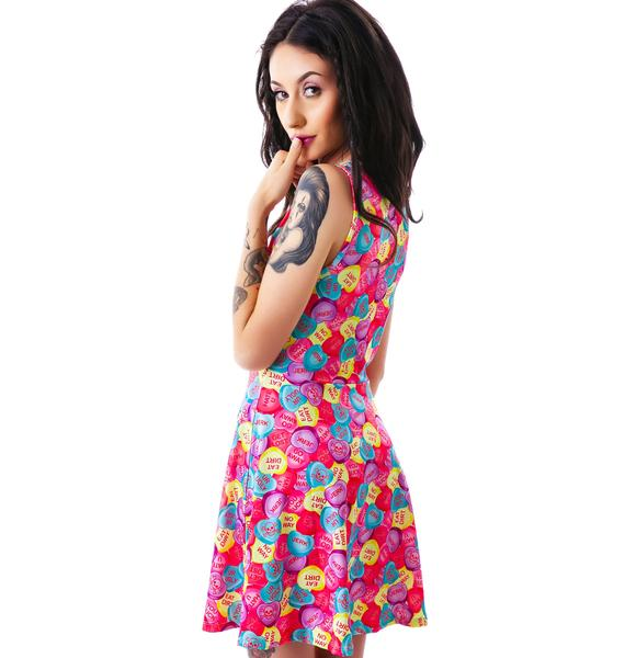 Sourpuss Clothing Skater Rotten Hearts Dress