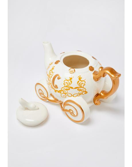 Lost My Shoe Cinderella Ceramic Tea Pot