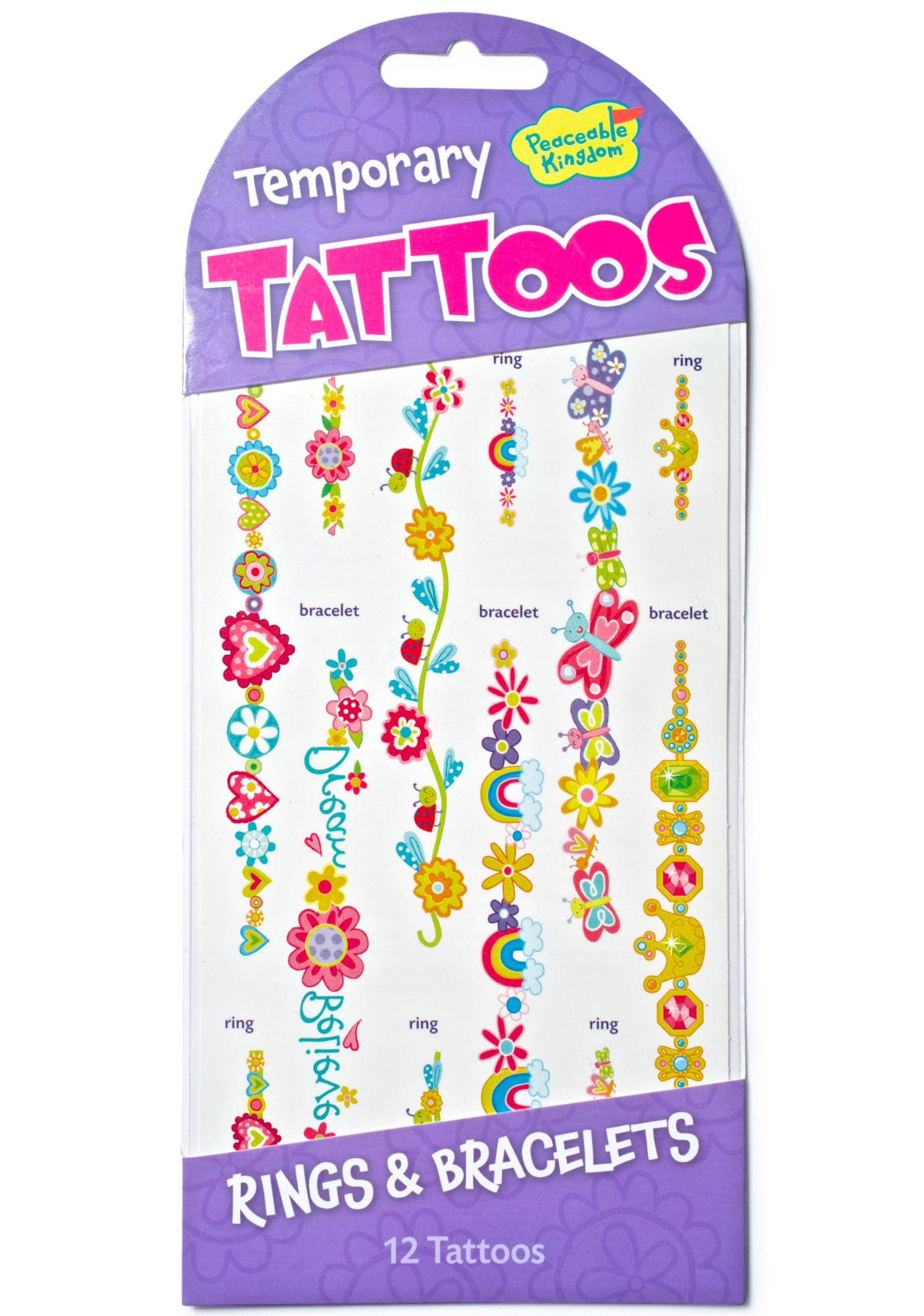 Rings And Bracelets Temporary Tattoos