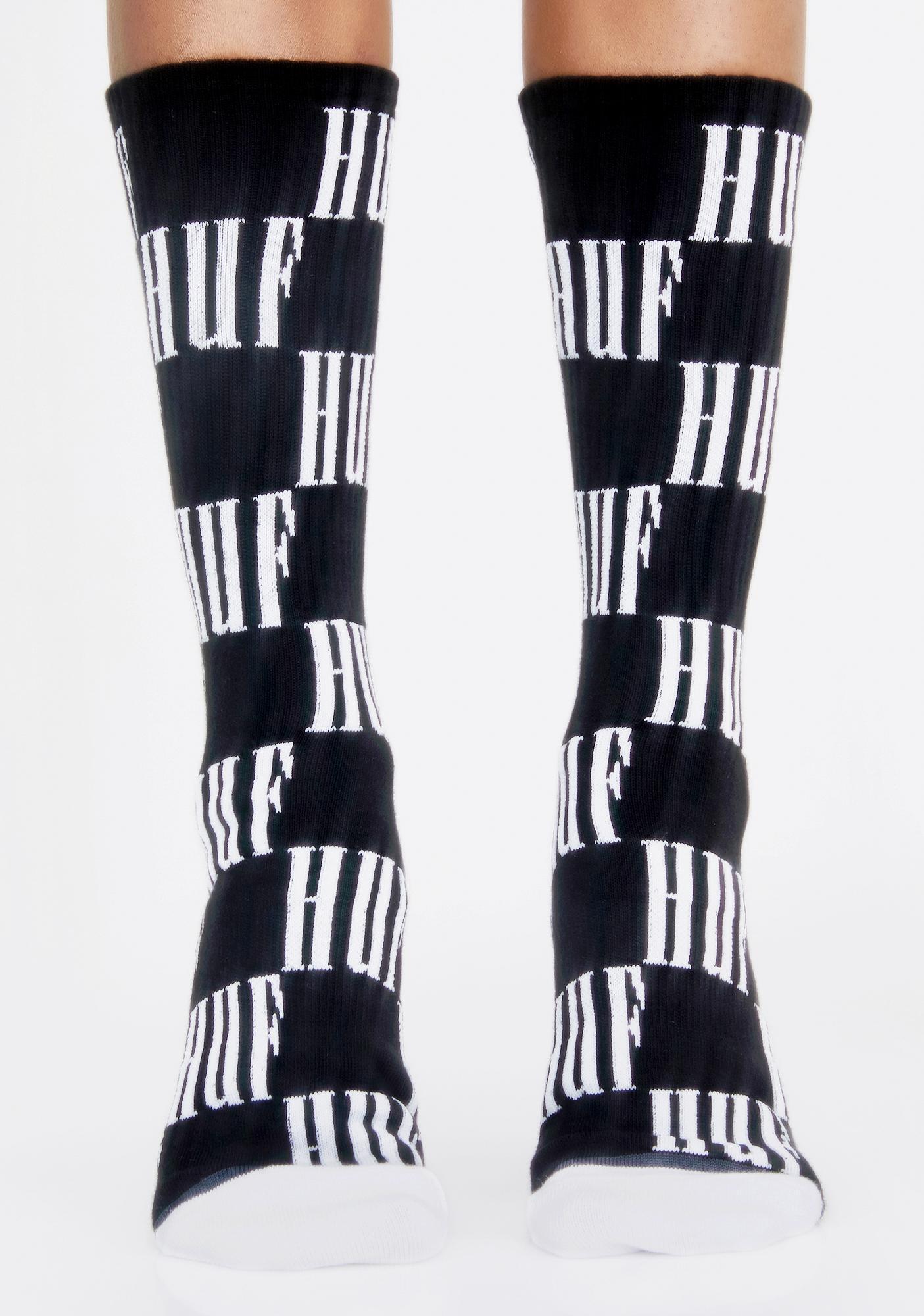 HUF Big Checkered Crew Socks