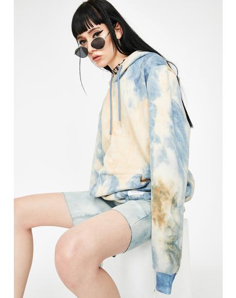 Cloud Bleach Oversized Hoodie