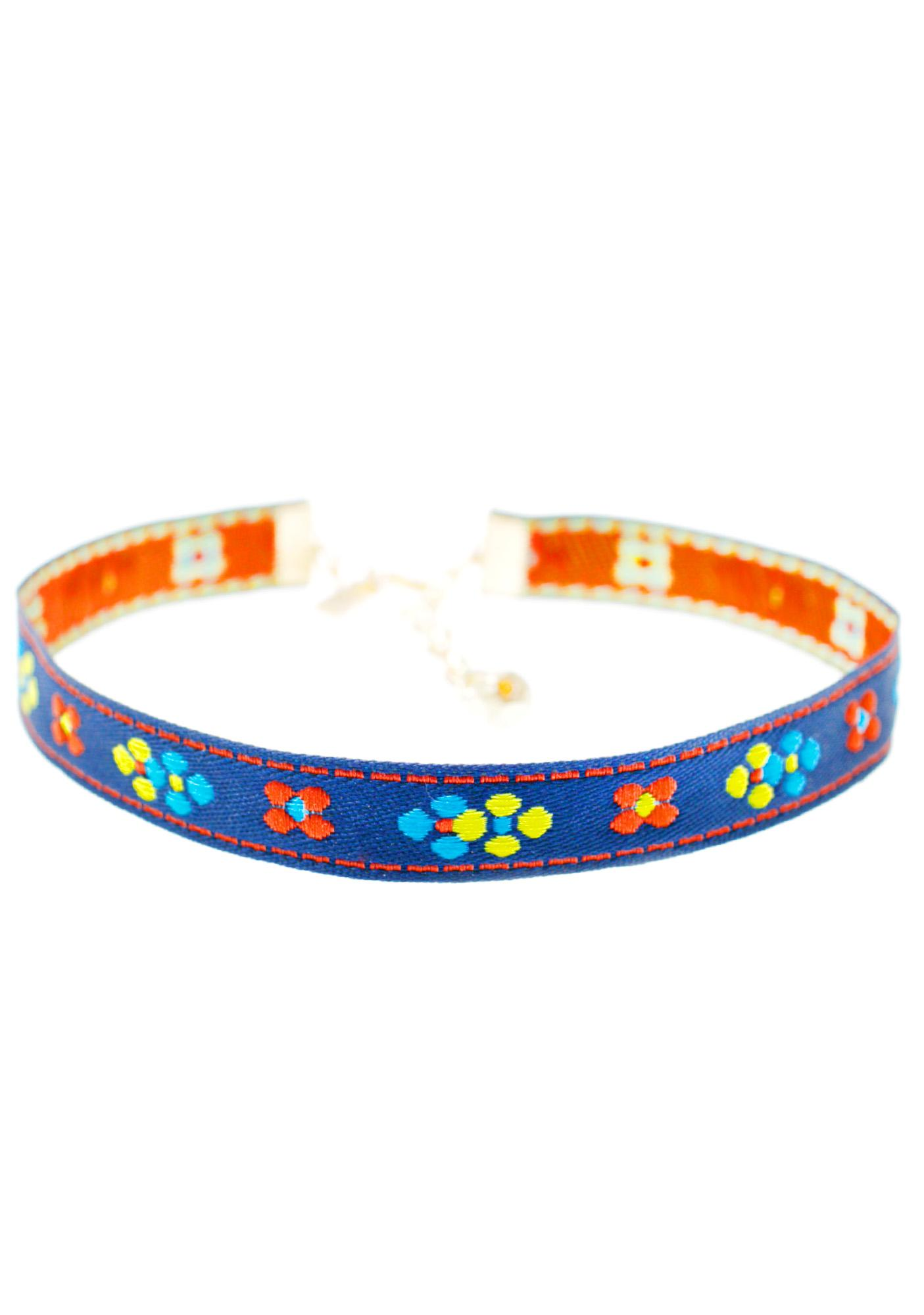 Vanessa Mooney Flower Ribbon Choker
