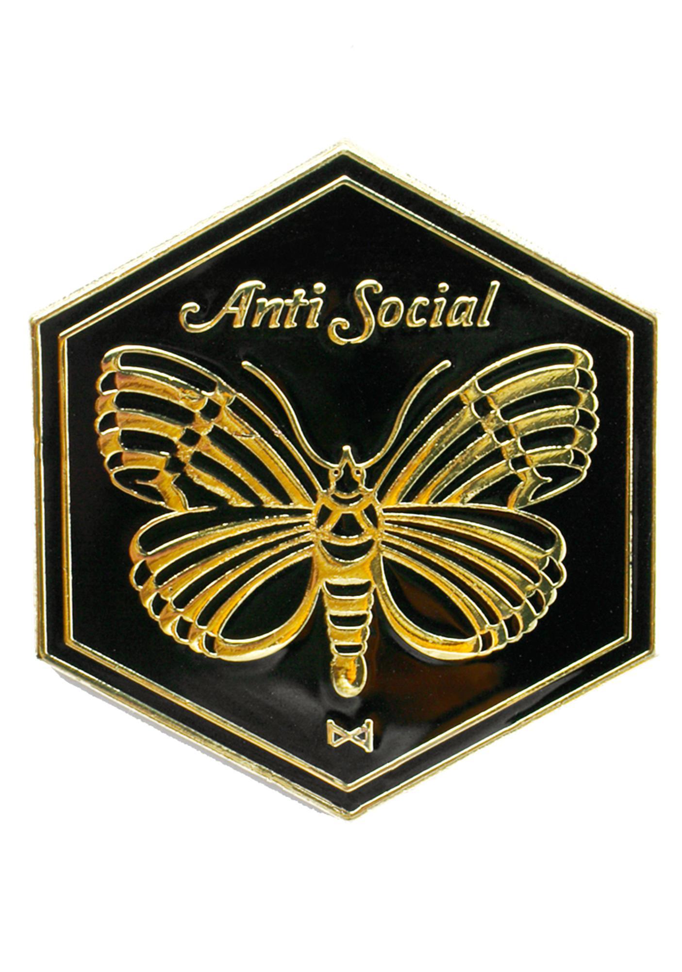 No Hours Anti Social Pin