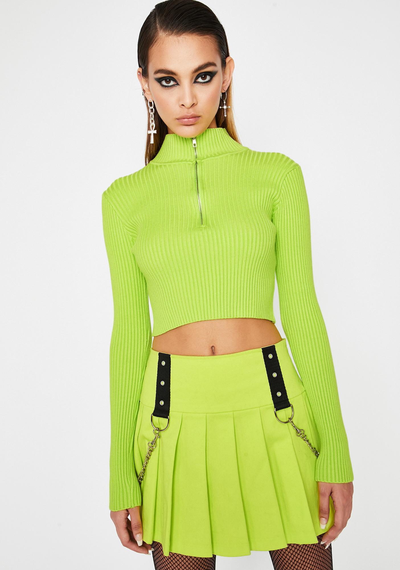 Slime Dope World Mock Neck Sweater