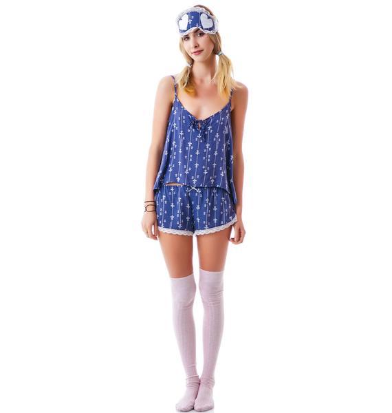 Wildfox Couture Fleur de Lis Summer Sleep Set