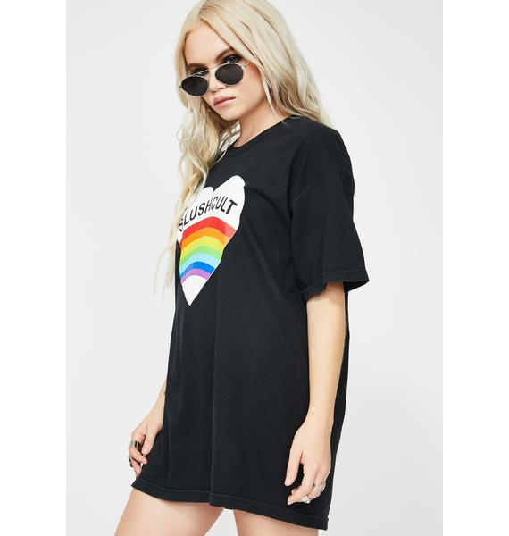 Slushcult Rainbow Heart Graphic Tee