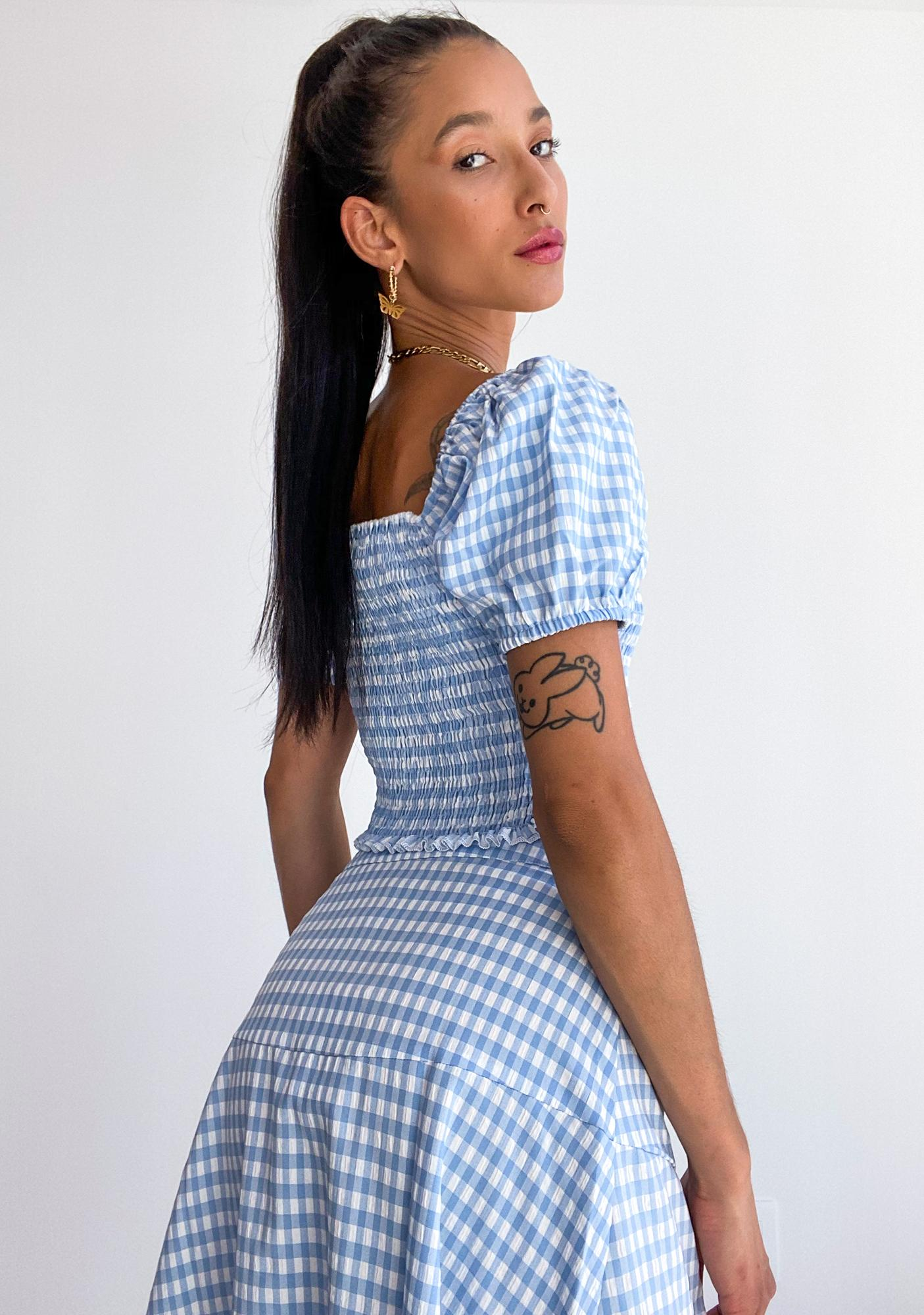 Prairie Romance Gingham Top