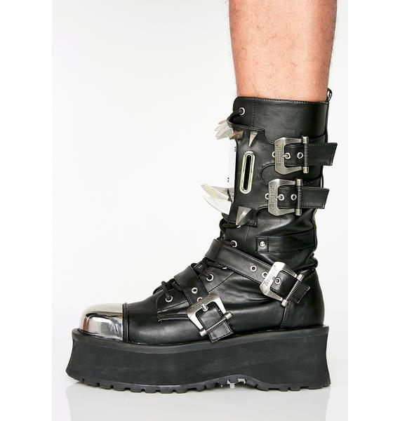 Demonia Hell Hunter Unisexx Spike Boots