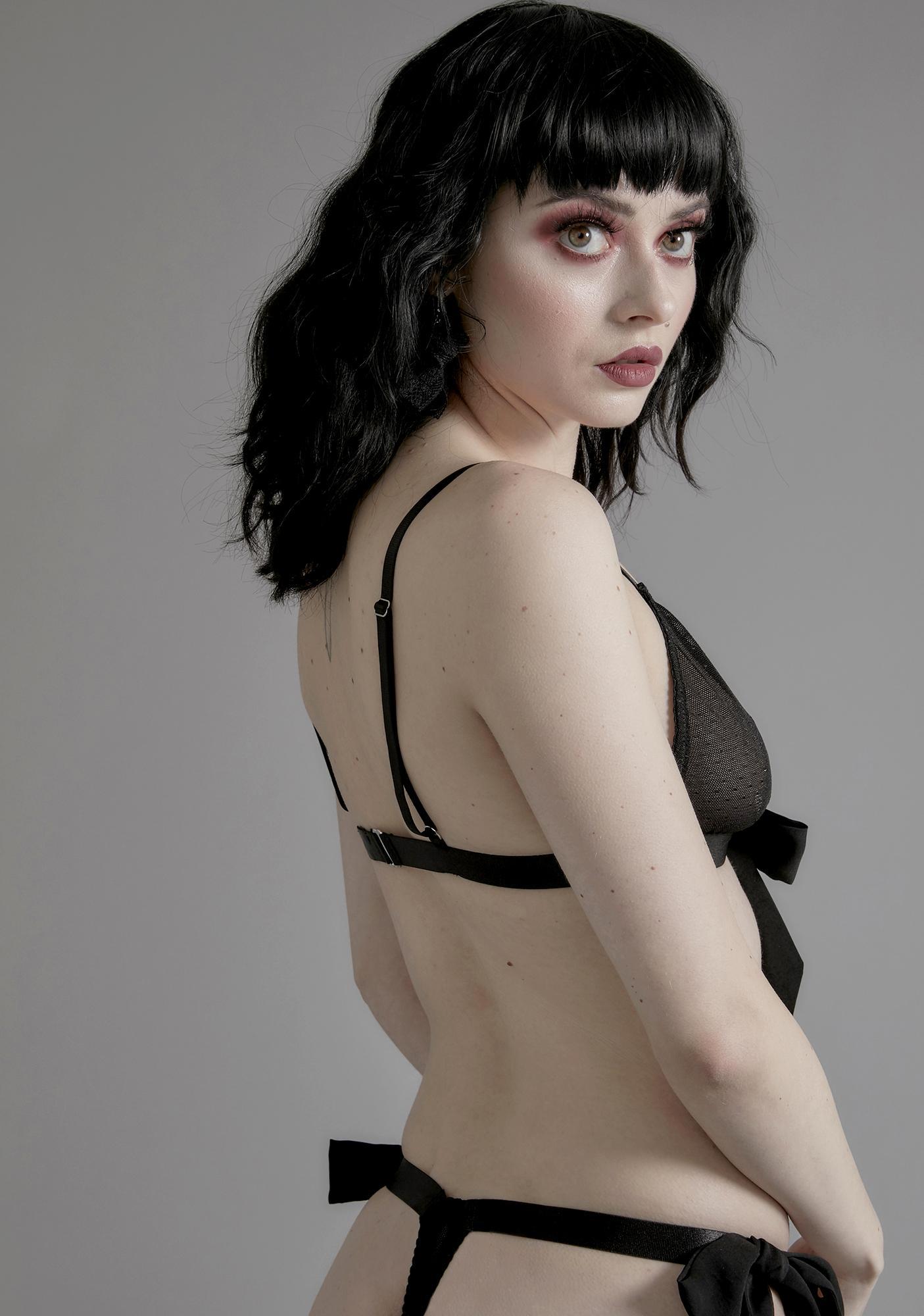 Widow Lover Of Darkness Tie Panties