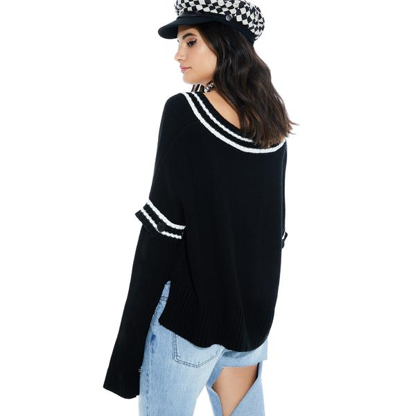 Game Night Slouchy Sweater