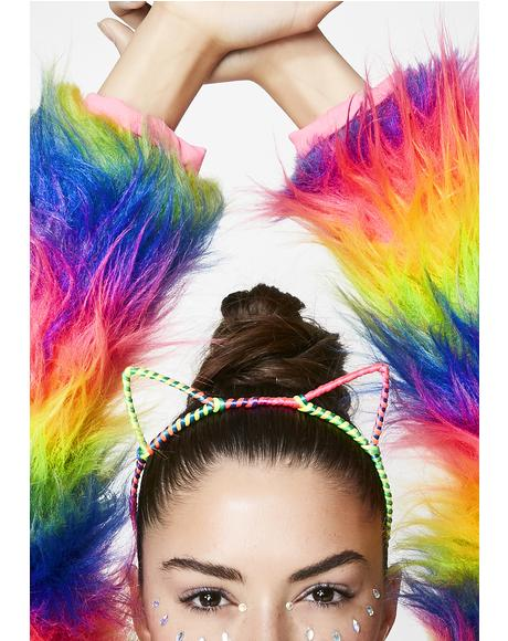 Electro Kitty Ear Headband