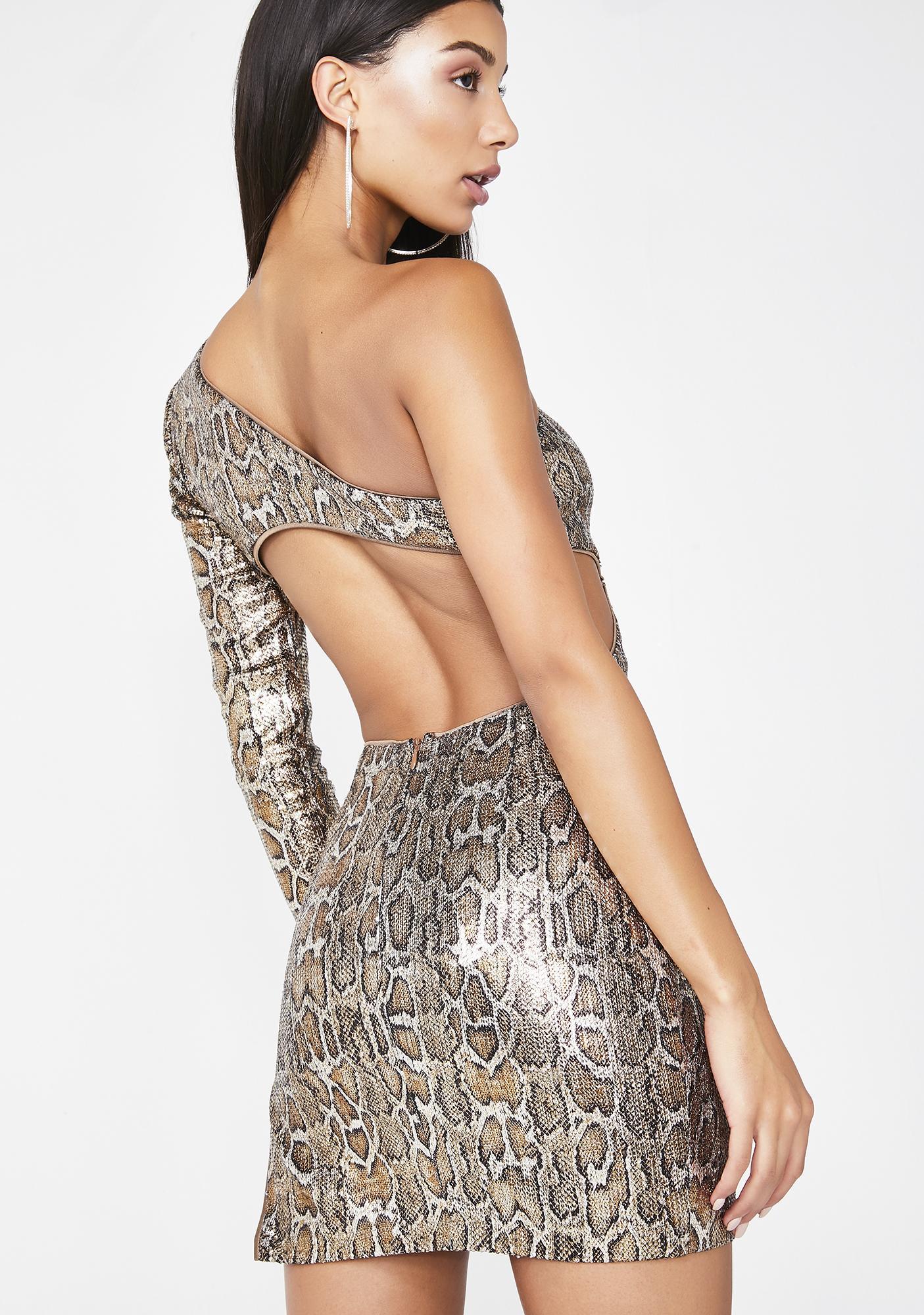 Poster Grl On The List Snake Sequin Dress