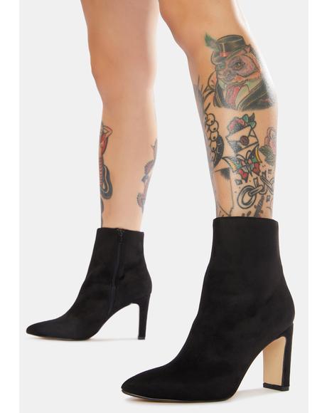 Black Erin Heeled Booties
